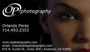 Orlando Perez Photography Business Card Sample