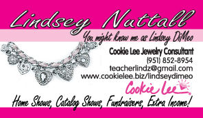 Cookie Lee Business Card Front Design