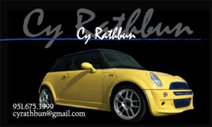cy rathbun business card front