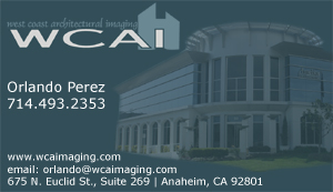 West Coast Architectural Imaging Business Card Sample