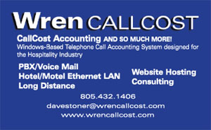 Wrent CallCost business card back