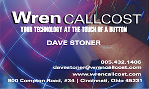 Wren CallCost Call Accounting Business Card Front